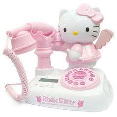 粉红KT猫仿古电话机Hello kitty电话机来电显示电话机 KITTY电话-淘宝网