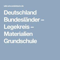 Deutschland Bundesländer – Legekreis – Materialien Grundschule
