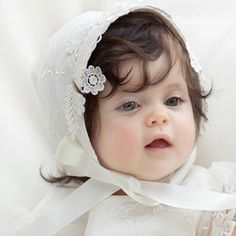A range of Christening bonnets to match all our gowns and dresses. Baby Christening Gowns, Cute Babies Photography, Cute Baby Wallpaper, Cute Baby Girl Pictures, Cute Baby Dolls, Baby Bonnets, Beautiful Baby Girl, Cute Little Baby, Silk Bonnet