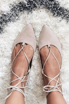 Add edge to simple flats with this pointed leather-look pair. Comes with ghillie lace-up tie the ultimate wardrobe necessity. Man...