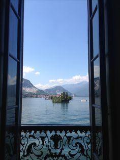 View from Isola Bella towards Isola dei Pescatori