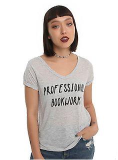 Best. Job. Ever. // Professional Bookworm Girls V-Neck T-Shirt