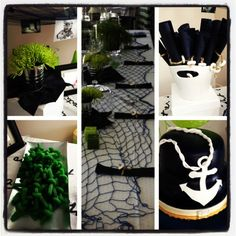 Nautical decorations birthday party!!