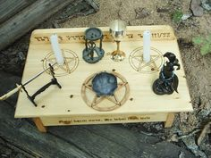 Wiccan Altars | Wiccan Altar of the Witch by DragonOak