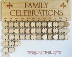 Birthday Board Family Birthday Sign Birthday by BirthdaySigns