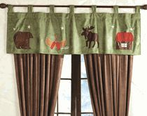 Buy Rustic Shower Curtains With Bear, Moose And Pinecone Designs   Black  Forest Decor