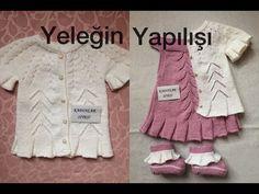 Kibar ve Zarif Fırfırlı Kısa Kollu Çocuk Yeleği Tarifi 2-3 yaş - YouTube Baby Hats Knitting, Baby Knitting Patterns, Knitted Hats, Knit Baby Dress, Baby Cardigan, Pull Bebe, Viking Tattoo Design, Knitting Videos, Crochet For Kids