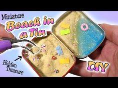 How To Mini Beach In A Tin Tutorial // Cute Summer DIY Miniature - YouTube