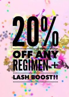 Unbelievable deal!! R+F just announced a HUGE special for the month of February. Purchase any regimen and Lash Boost and get 20% off!! This deal is amazing, you don't want to miss it!!
