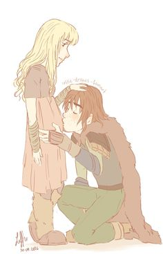 """leffie-draws-fanart: """" Pregstrid and Hiccup (Hiccstrid)~ requested by @scarletmilady"""