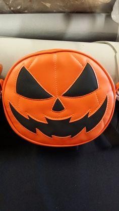 Plain orange pumpkin bag () by LovePainandStitches
