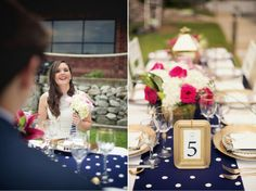 Nautical Chic Wedding Inspiration - Belle The Magazine Shade Roses, Gold Lanterns, Sweet Lady, Gold Polka Dots, Event Dresses, Navy Pink, Bridal Boutique, Event Venues, Chic Wedding