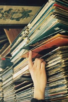 I don't know what else is in this room, but if it has stacks upon stacks of records...it's guaranteed that I will get lost for hours inside.