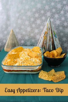Easy Appetizers: Taco Dip. A quick and easy taco dip that can be prepared in advance. It will be the hit of the party!