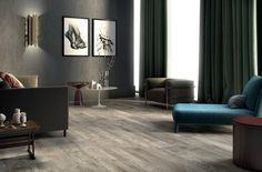 Frontier Smoke Wood Plank Porcelain Tile - 8in. x 48in. - 100198753 | Floor and Decor