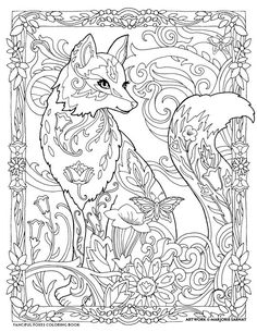 The top 23 Ideas About Fox Adult Coloring Pages . Coloring pages are no much longer simply for kids. Coloring books are offering well in the adult market. Fox Coloring Page, Adult Coloring Book Pages, Mandala Coloring Pages, Animal Coloring Pages, Printable Coloring Pages, Coloring Pages For Kids, Coloring Sheets, Creative Haven Coloring Books, Kids Coloring