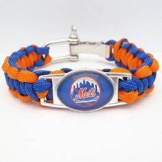 MLB New York Mets Survival Bracelet Baseball Sports Team Braided Paracord #NewYorkMets