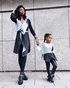 twinning is winning how cool is s matching outfit with her daughter? Matching Outfits, Every Woman, Shades Of Grey, My Mom, Twins, Wrap Dress, Women Wear, Normcore, Daughter