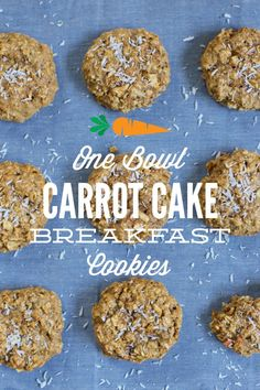 One Bowl Carrot Cake Breakfast Cookies: A healthy breakfast cookie made with oats and whole grain flour the whole family will love!