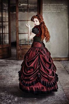 Image uploaded by Midnight P. Find images and videos about gothic victorian and gothic beauty magazine on We Heart It - the app to get lost in what you love. Red Wedding Gowns, Wedding Gown Gallery, Beautiful Red Dresses, Nice Dresses, Dark Beauty, Gothic Beauty, Gothic Fashion Photography, Steampunk Wedding Dress, Gothic Wedding