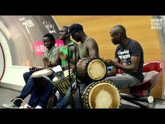 African Djembe Drummers in Paris Metro [HD] - YouTube