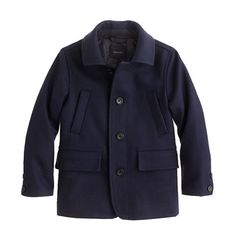 A sharp navy coat (just like Dad wears) with plenty of pockets—complete with a…