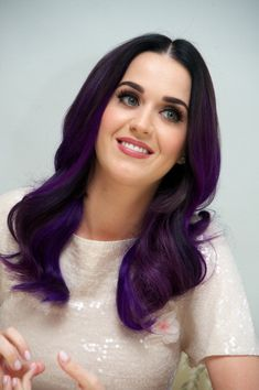 I love Katy Perry's purple hair and I am seriously considering getting this done <3
