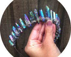 Angel Aura Mystic quartz crown headband by CrystalEclipseCrowns
