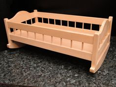 Wooden Doll Cradle with Heart Cutout, Unfinished or Finished.- Wooden Doll Cradle with Heart Cutout, Unfinished or Finished, Optional Personalization - Baby Doll Bed, Doll Beds, Wooden Diy, Handmade Wooden, Baby Basinets, Baby Crib, Diy Nursery Furniture, Baby Cradle Wooden, Doll Closet