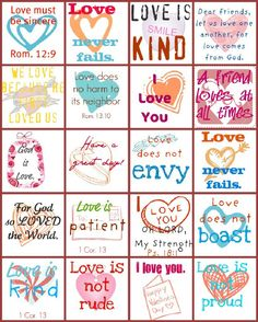 printables to cut up and stick in a lunch box