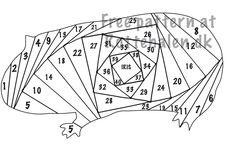 Cand.Selv: Flere kort med iris folding mønstre