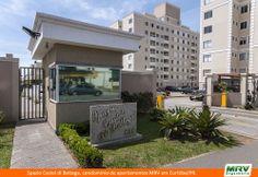 Paisagismo do Castel de Bettega. Condomínio fechado de apartamentos localizado em Curitiba / PR.