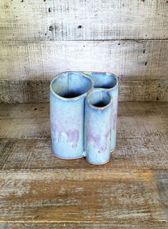 Vase Vintage Pottery Vase 3 section Vase Ceramic Paint Brush Holder Pottery…