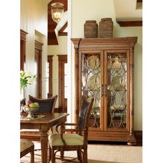 Tommy Bahama Home Island Estate Mariana Display Cabinet   Dining Rooms Direct