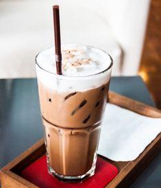 Frappe, Mochi, Glass Of Milk, Espresso, Latte, Pudding, Coffee, Drinks, Tableware
