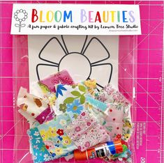 Created for and inspired by my daughter's love of collage style art -- a sweet kit just for the crafty kid! Christmas Crafts For Kids, Summer Crafts, Doll Crafts, Paper Crafts, Cute Presents, Craft Kits For Kids, Craft Activities, Preschool Ideas, Crafty Kids