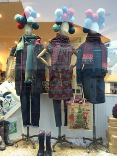 Seasalt's 'knitted Christmas' window display. Designed and handmade by Kathryn, Tara and Janet.