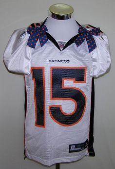 Denver Broncos Tim Tebow #15 Custom Reebok NFL Football White Jersey Size S #Reebok #DenverBroncos