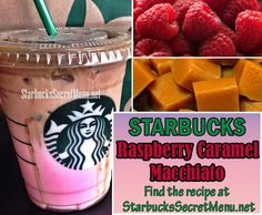 Try Starbucks Raspberry Caramel Macchiato! It's a picture perfect summer beverage that'll have everyone asking what you ordered. Starbucks Hacks, Starbucks Frappuccino, Starbucks Secret Menu Drinks, Frappuccino Recipe, Starbucks Recipes, Starbucks Coffee, Coffee Recipes, Secret Menu Items, Yummy Drinks