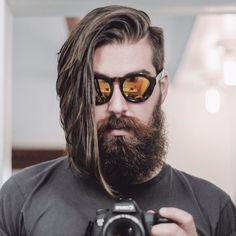 Men's Long Hair With an Undercut and Beard