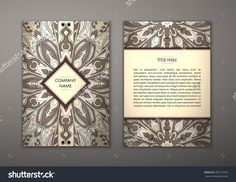 Flyer With Floral Mandala Pattern And Ornaments. Vector Flyer Oriental Design Layout Template, Size. Islam, Arabic, Indian, Ottoman Motifs. Front Page And Back Page. Easy To Use And Edit. - 405710743 : Shutterstock