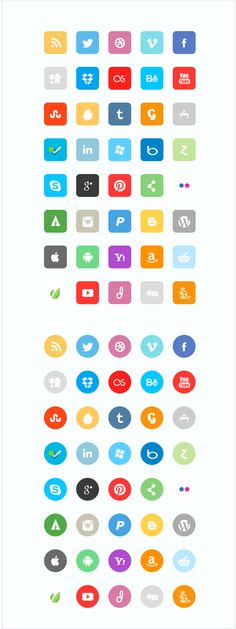 design deck | Premium Flat Social Icon Set