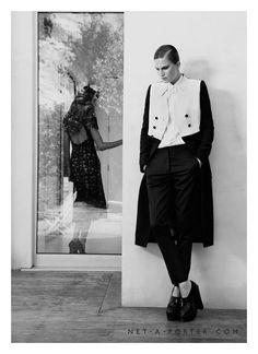Alla Kostromicheva for Net-a-Porter Magazine by Lachlan Bailey