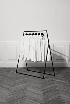 Martinique clothes rail by Kevin Hviid Modegeschäft Design, Rack Design, Design Case, Pipe Clothes Rack, Clothes Rail, Interior Design Plants, Interior Design Living Room, Retail Fixtures, Retail Store Design
