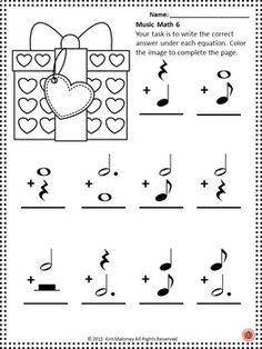 Music lessons for Valentine's Day Music Math | #musiceducation