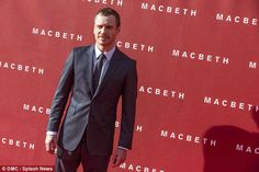 Main man: The 38-year-old actor, who plays the title role in the film, looked handsome in a suave navy suit as he stormed the red carpet at the Edinburgh Festival Theatre