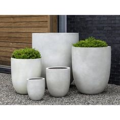 Create a modern landscape indoor or out with our Aurora Planters. Handcrafted in a range of width and heights, they have the look of substantial concrete planters, but they're actually made of a lighter-weight fiberglass-clay composite. Large Outdoor Planters, Hanging Planters, Patio Planters, Large Concrete Planters, Large Garden Pots, Succulent Planters, Large Pots, Cheap Planters, Outside Planters