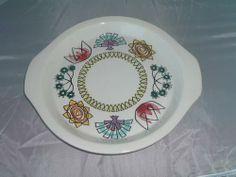 Fleur Serving Plate Serving Plates, Decorative Plates, British, Tableware, Green, Design, Home Decor, Flower, Dinnerware