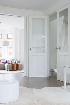 white + glass pane interior doors