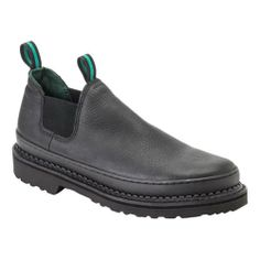 Georgia GS270 Men's Giant Steel Toe Romeo Work Shoe Black 10.5 M US Steel Safety Toe and Electrical Hazard Rating. Full-Grain Leather Uppers and Goodyear Welt Construction. Oil Resistant Polyurethane Outsole. Mesh Covered Cushion Footbed.